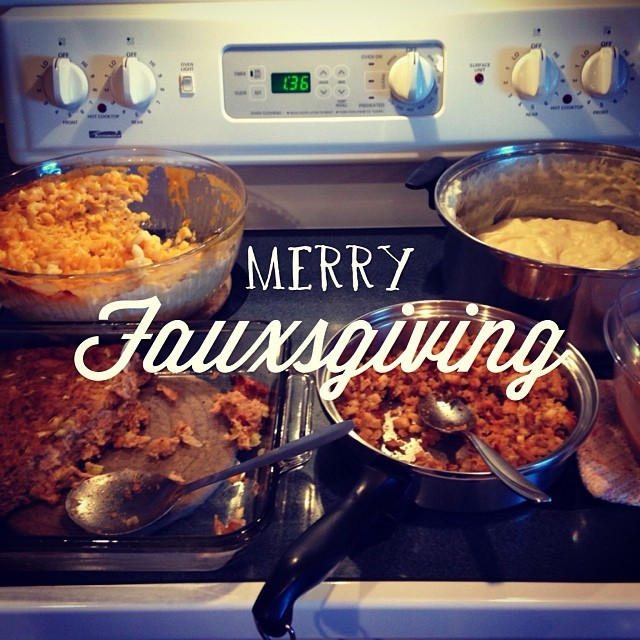 Celebrating Thanksgiving early