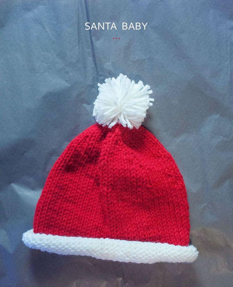 Knit this baby Santa hat! (Free pattern) 175d239ffc3