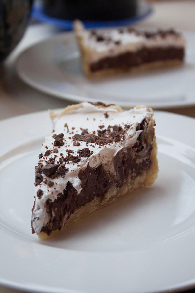 Chocolate mousse pie with a gluten-free crust