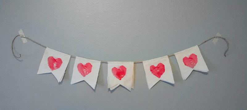 Mail a DIY Valentine banner