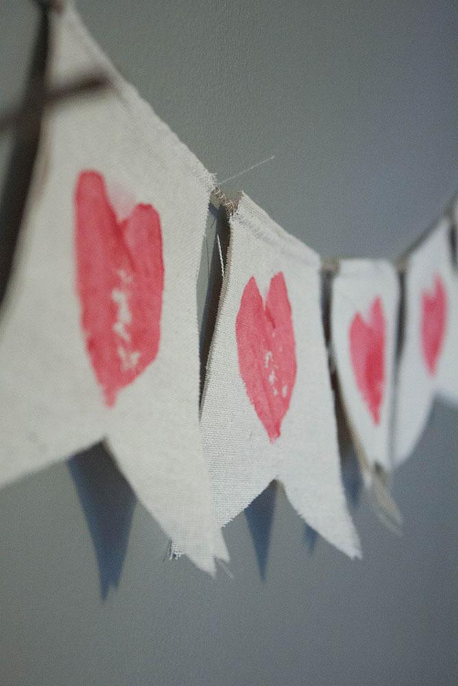 Mail a DIY Valentine banner!