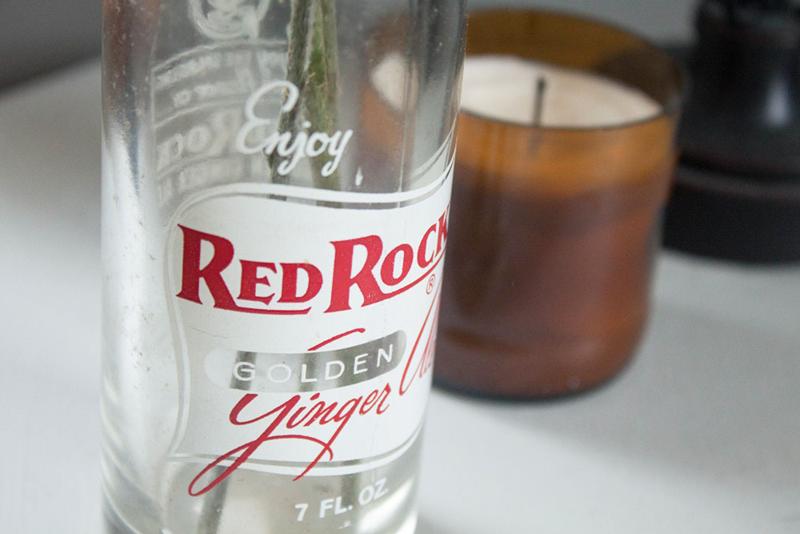 Vintage Red Rock Golden Ginger Ale soda bottle
