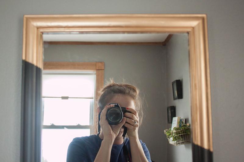 Quick DIY gold leaf mirror upgrade