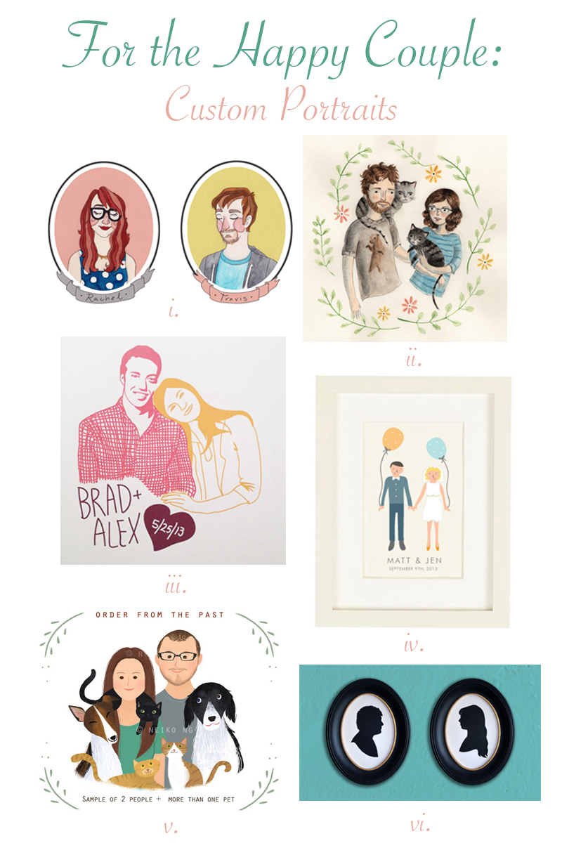 Unique wedding idea! Have a custom portrait made of the bride and groom