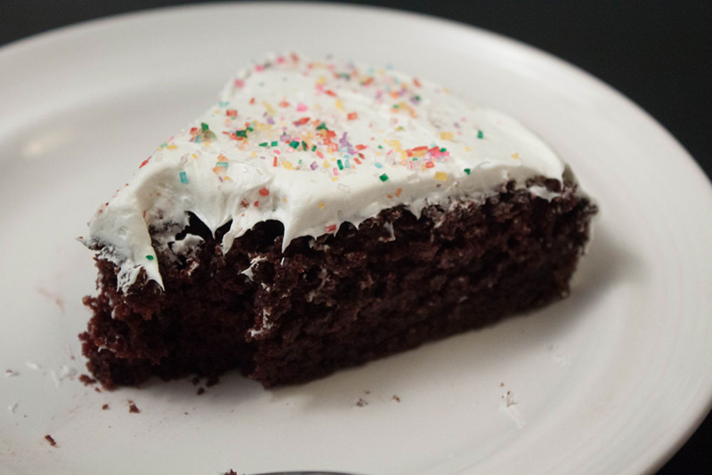 Chocolate cake so amazing you won't believe it's gluten-free (or a mix!)