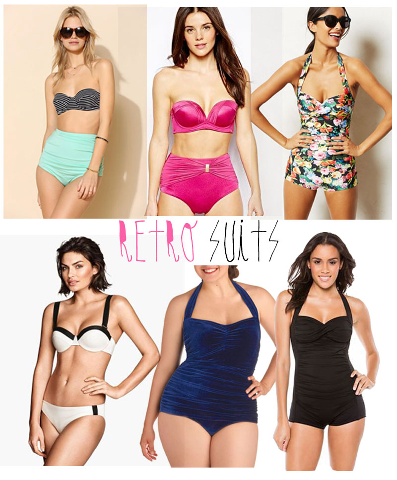 Retro vintage inspired bathing suits for 2014