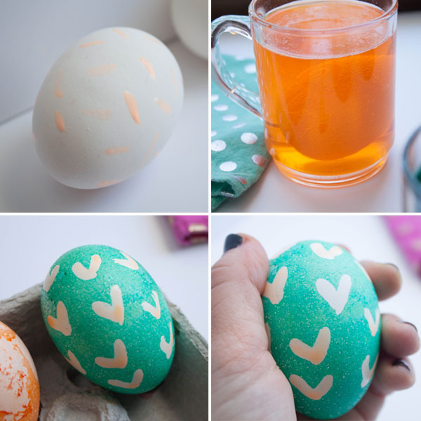 Use liquid frisket to make patterned Easter eggs