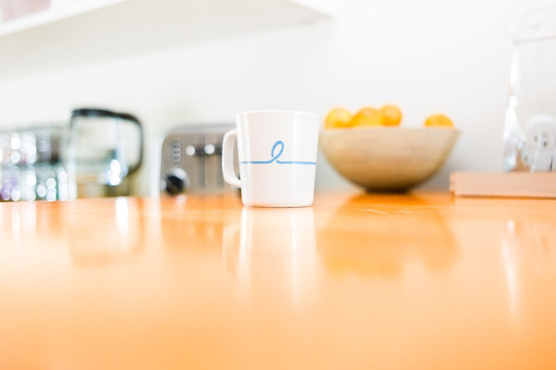 "Our Common Mug sends one to you, one to a long distance friend, so you can have coffee ""together"""