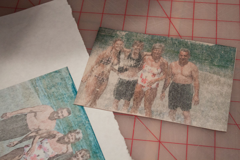 Print a family photo on a wooden postcard for Father's Day! (Click through for instructions)