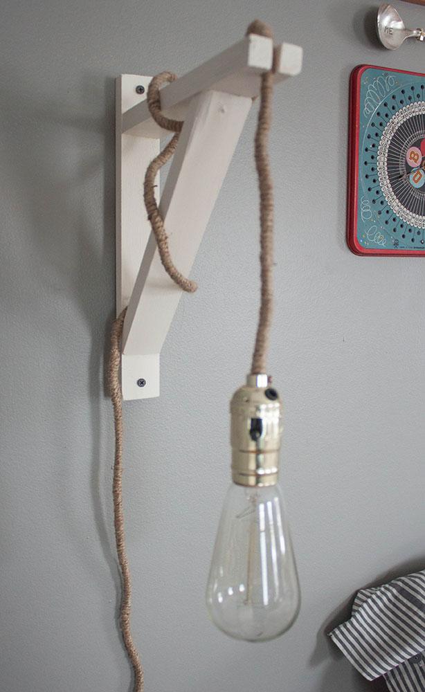 DIY wall pendant light