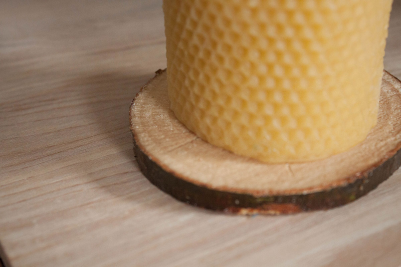 Make branch slice coasters at home