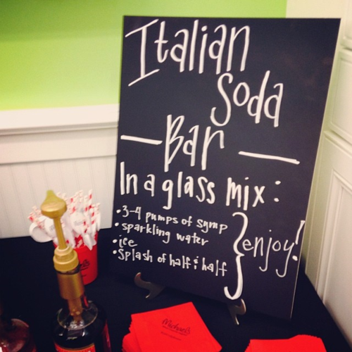 A make-your-own Italian soda bar