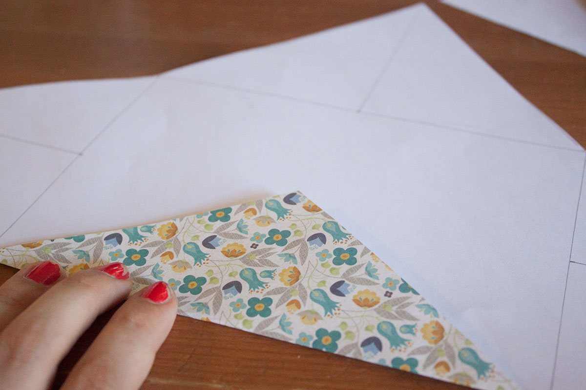 Scrapbook paper envelope - Make Your Own 5x7 Envelope From A Sheet Of Scrapbook Paper