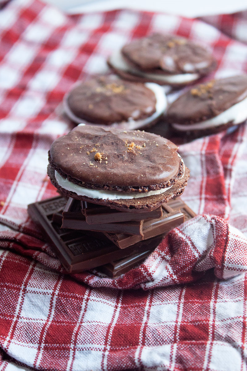 Take the flavor of camping to a new level with s'mores macarons