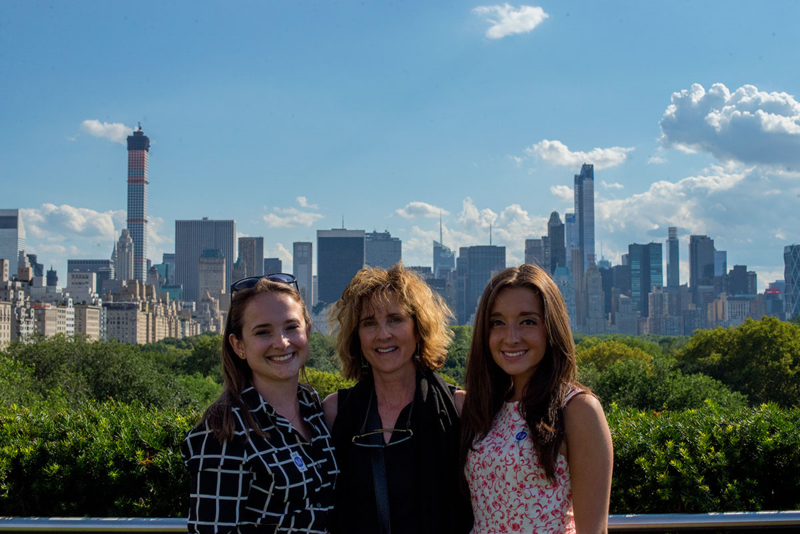 Mom and daughters in NYC