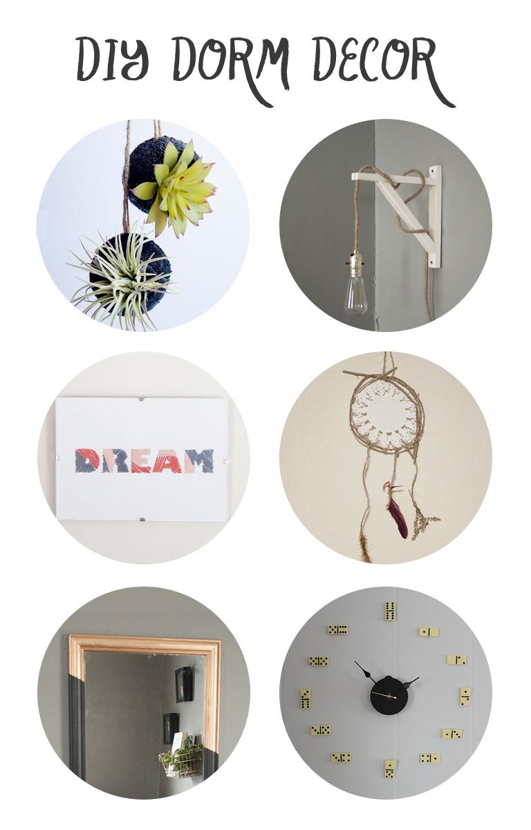 DIY dorm decor ideas! Click through for instructions