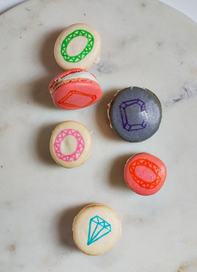 DIY gemstone French macarons