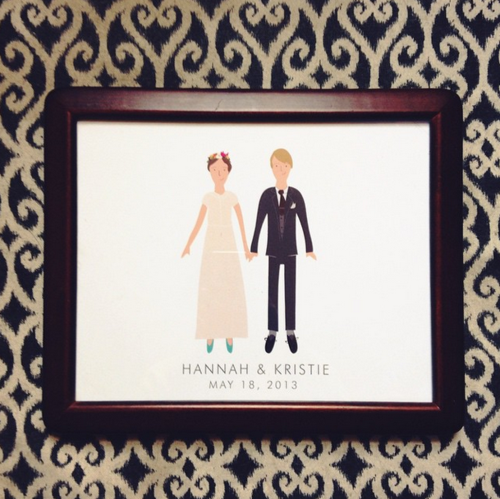 Custom wedding print by My Little Buffalo