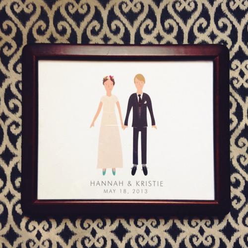 Custom wedding print by My Little Buffalo