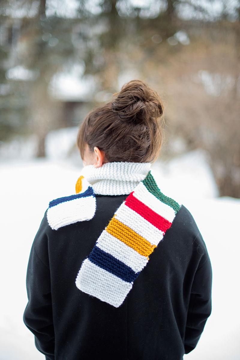 Knit a Hudson Bay-inspired scarf