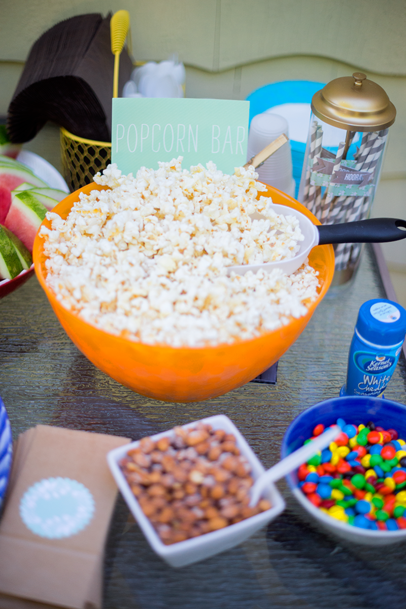Put together a popcorn bar with toppings!