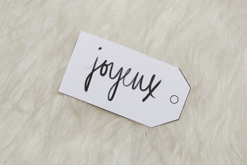 Handwritten holiday gift tags (printable)