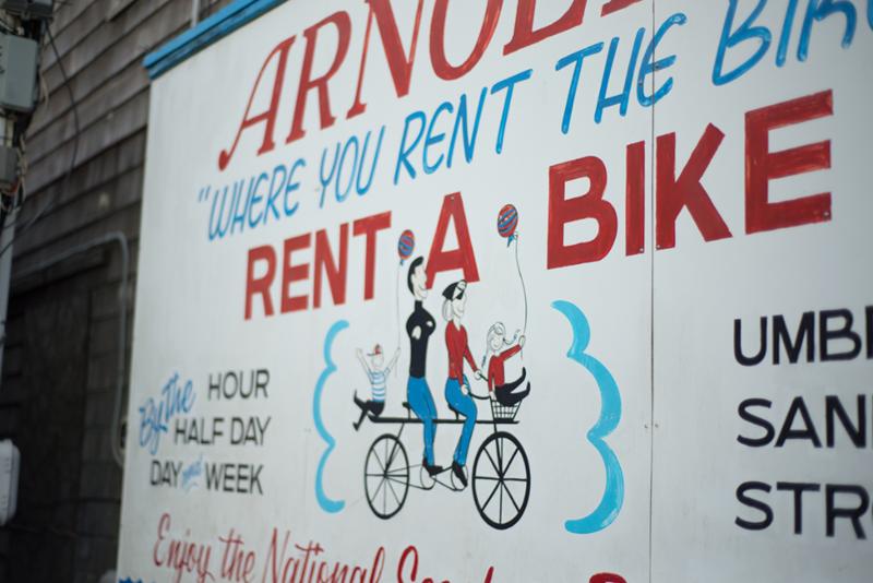 Vintage billboard in Provincetown, MA