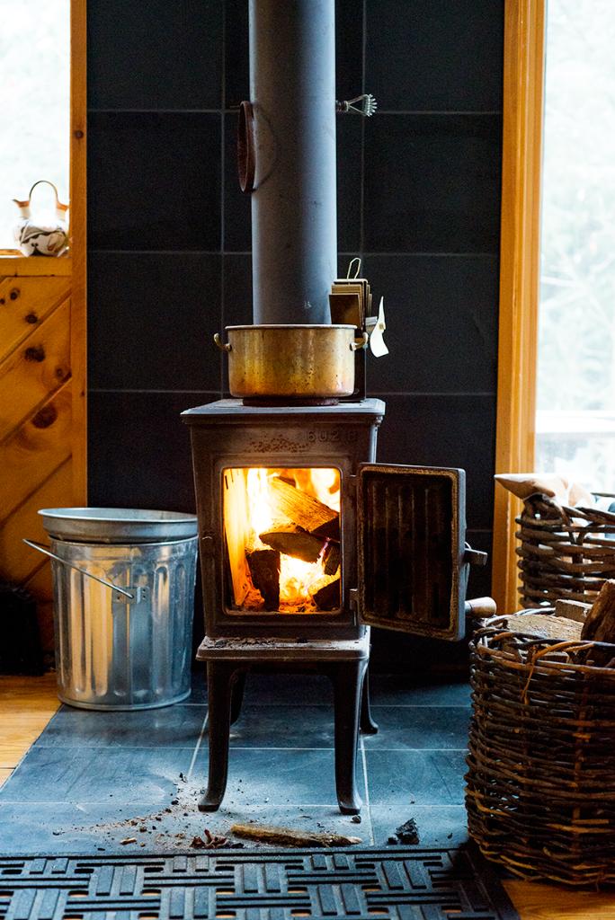 Rustic vintage woodstove