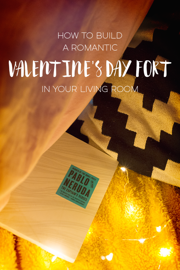 How to build a romantic Valentine's Day fort in your living room!