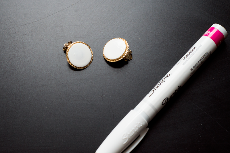 DIY collar clips (made from clip-on earrings!)