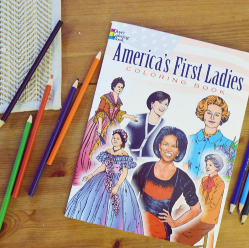 First ladies coloring book