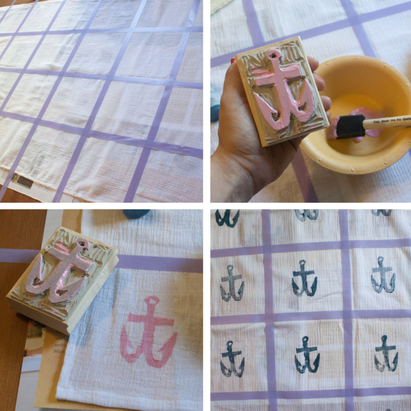 The best way to stamp a scarf!
