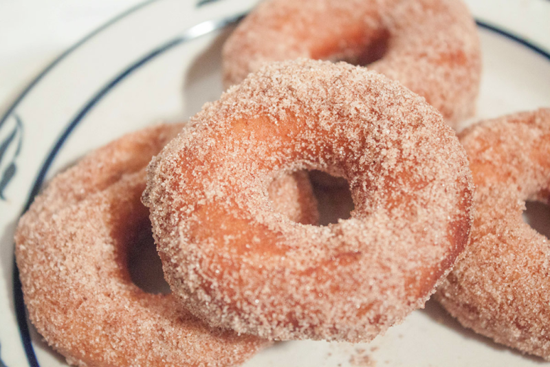Snow Day donuts! Four ingredients and fifteen minutes make this special Southern winter treat