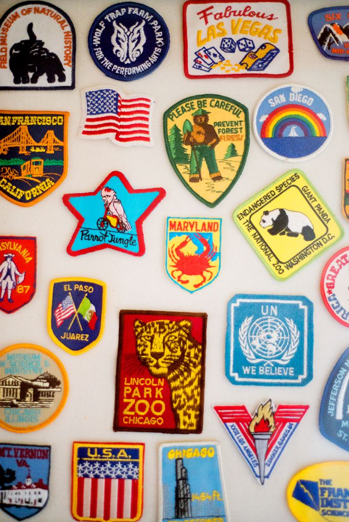 Vintage patch collection