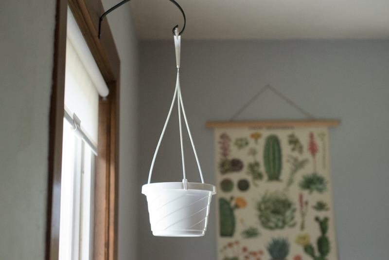 DIY plastic hanging pot makeover