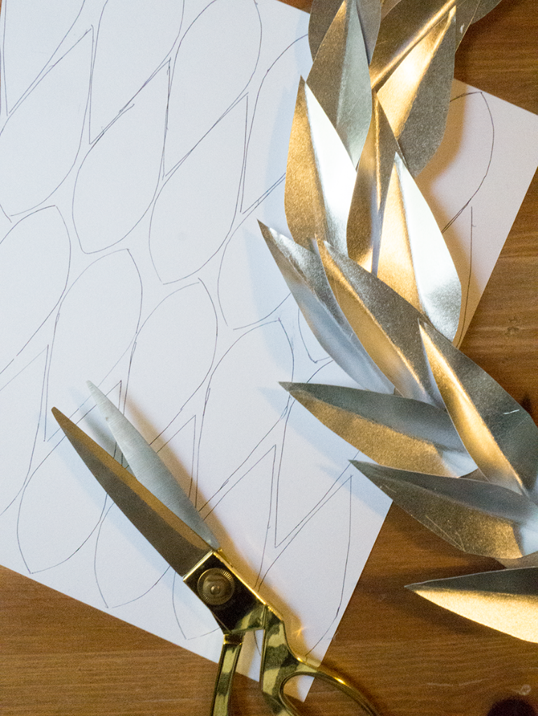 Diy Metallic Laurel Wreath Made Out Of Paper The Homesteady