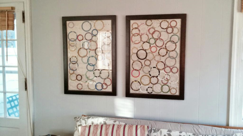 Frame Anthropologie wrapping paper for one-of-a-kind wall art