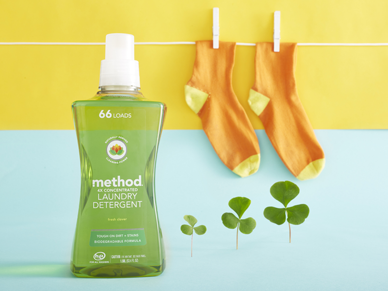 method 4x concentrated laundry detergent is effective and natural