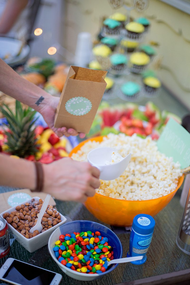 DIY popcorn bar with toppings!