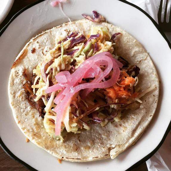 """Taco-tillas"" at the Sassy Spoon in Minneapolis"