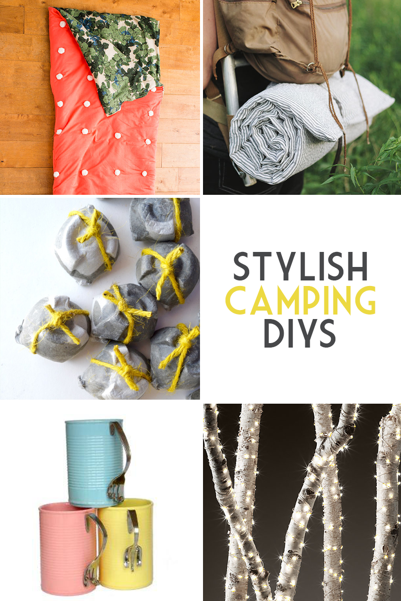 Stylish #camping DIYs to help you rough it!