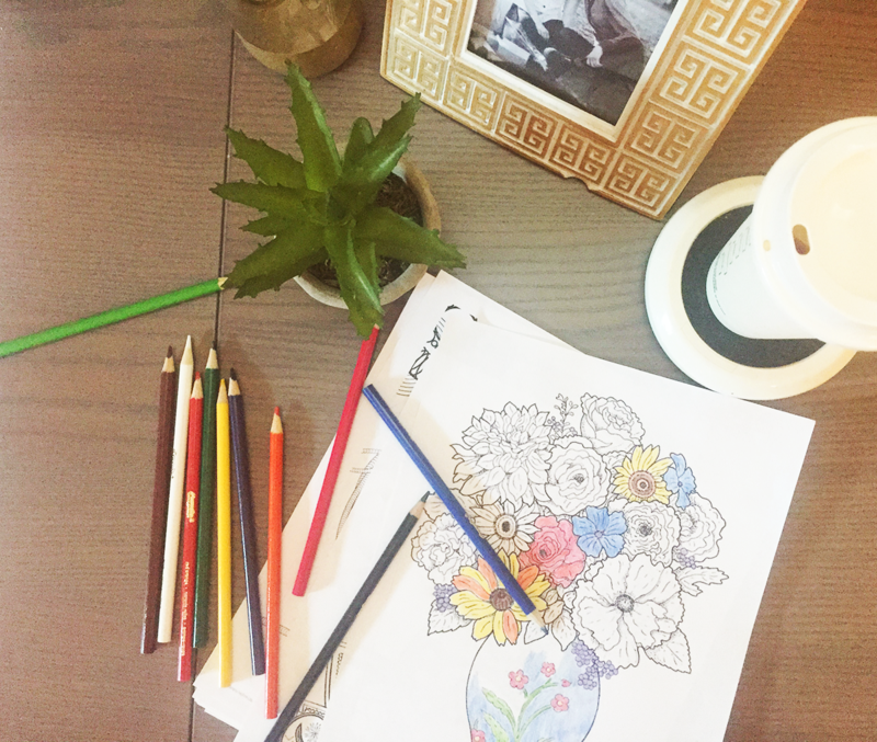 Free, printable coloring pages for grown-ups!