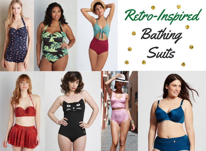 Retro bathing suits
