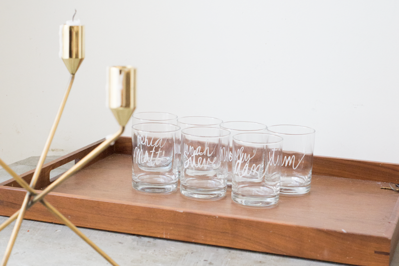 Customized whiskey tumblers for bachelor party