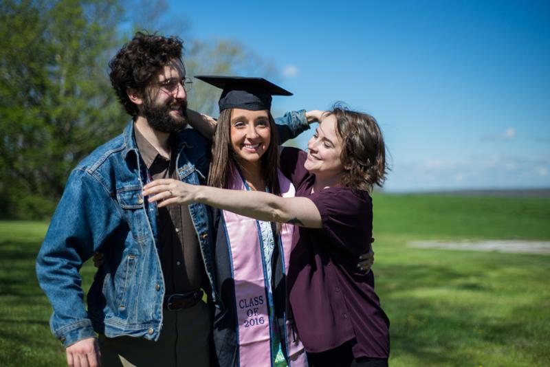 Siblings at graduation