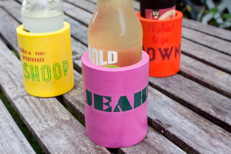 DIY custom drink kooziesThe Homesteady