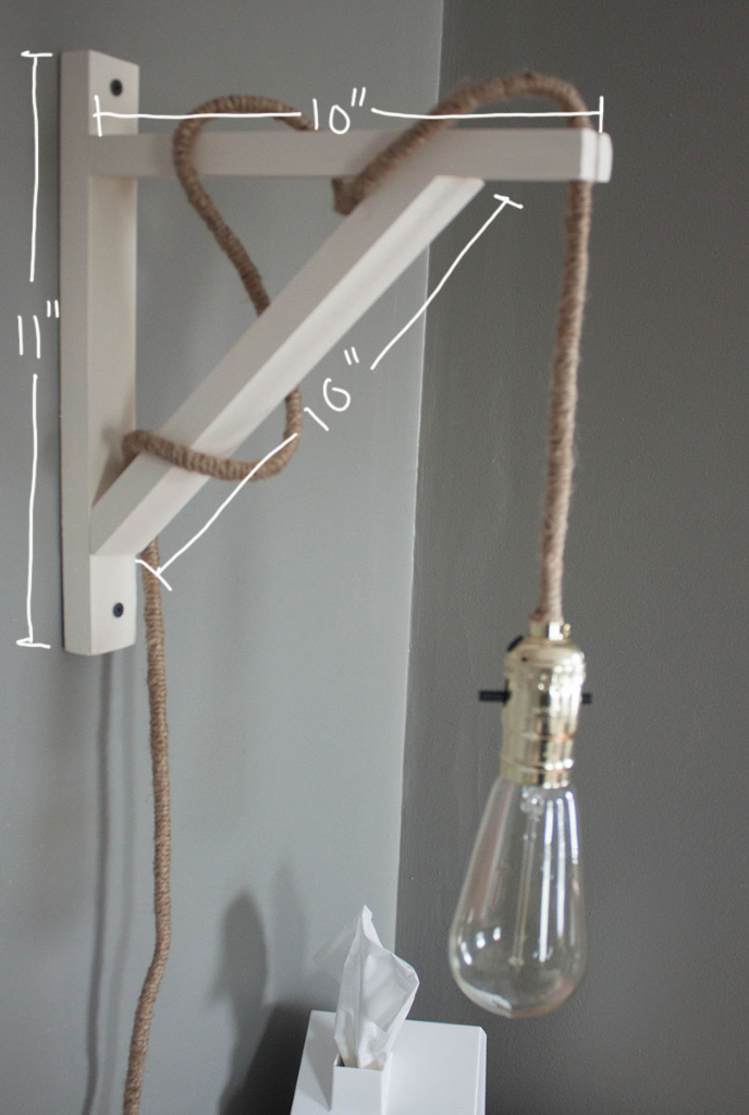 DIY wall lamp - Make it yourself for under $40!