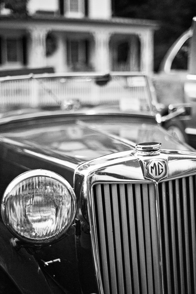 Classic car black and white