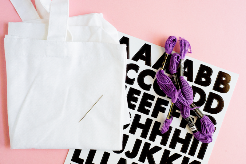 How to make your own stitched tote bag!