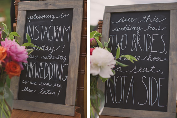 Chalkboard signs / Love + Perry Photography